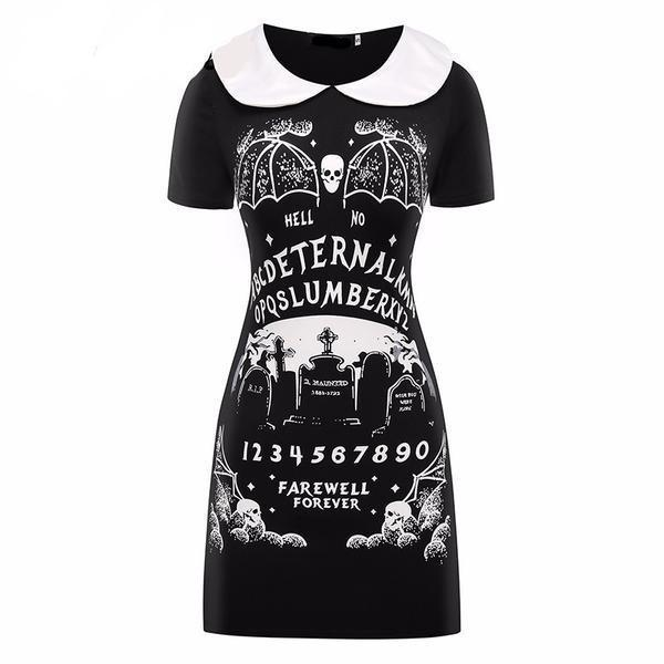Gothic Punk Black Farewell Forever Dress