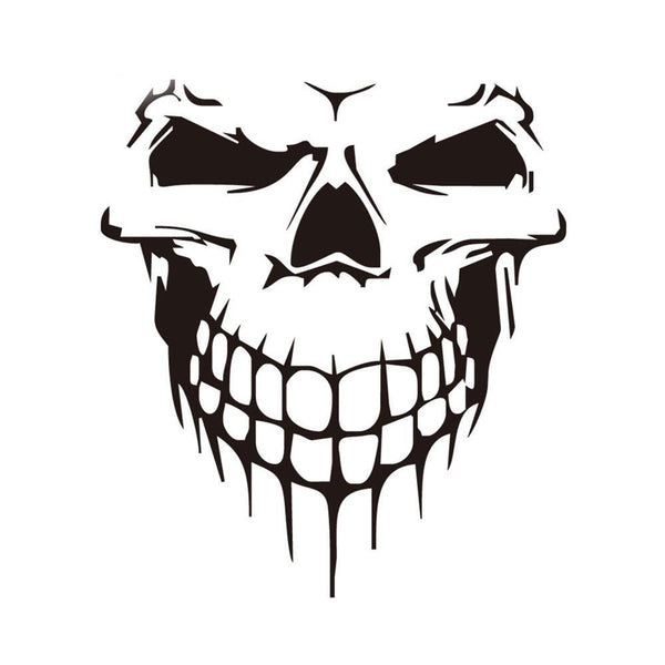 Car Styling Full Body 3D Skull Stickers - Badassnow