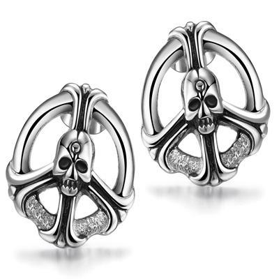 Retro Skeleton Titanium Steel Earrings