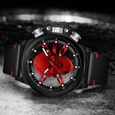 3D Waterproof Skull Sport Watch