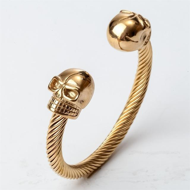 Skull Skeleton Biker Bangle Bracelet