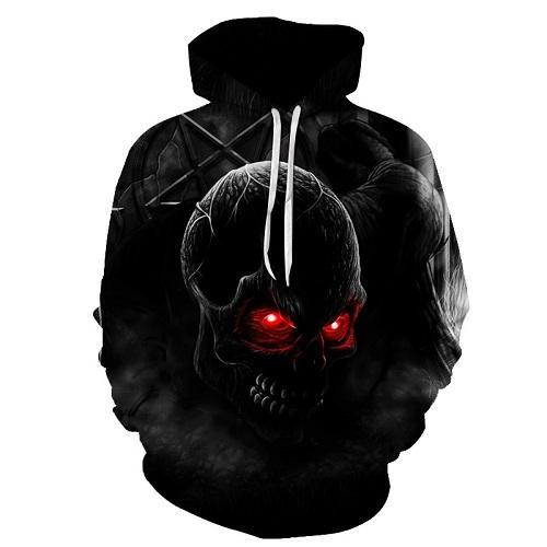 Red Eyes Skull head Hooded Hoodie