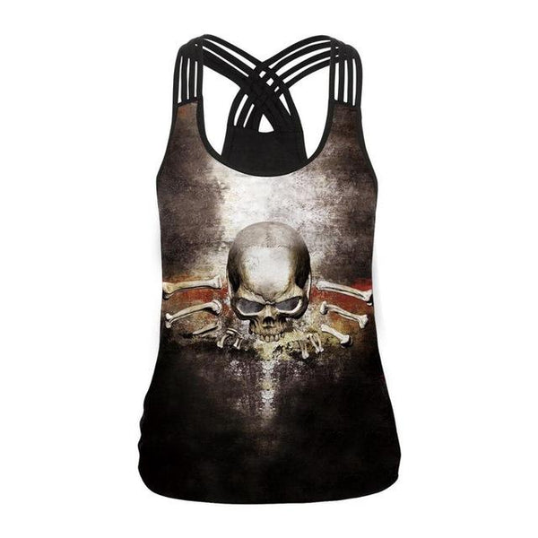 Hollow Out Sexy Vest 3D Tops