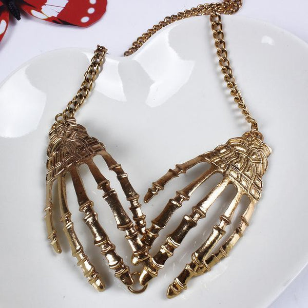 Skull Hand Choker Gift Necklaces