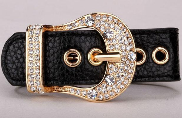 Leather Belt Bracelet Bangle for Women