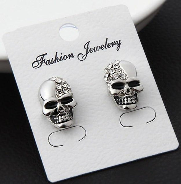 Skull Ear Stud Earrings