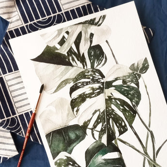 Monstera Variegata Watercolour Workshop - artjamming, Boulevart - Boulevart