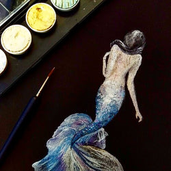 Metallic Watercolour Mermaid Workshop - artjamming, Boulevart - Boulevart