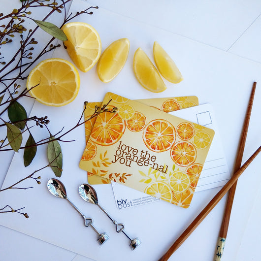 Food Puns - Orangenal You Postcard - artjamming, Boulevart - Boulevart