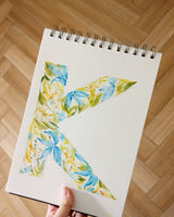 Floral Letter Art in Watercolour (Customised) - artjamming, Boulevart - Boulevart
