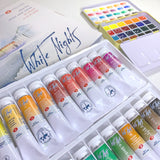 White Nights Watercolour 1ml Pan Set x24