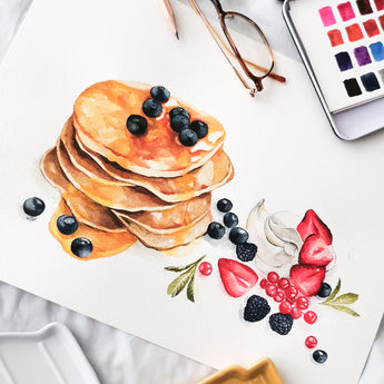 Pancakes Watercolour Workshop - artjamming, Boulevart - Boulevart