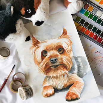 Pet Portrait Watercolour Workshop - artjamming, Boulevart - Boulevart