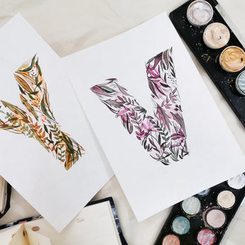 Floral Letter Art Watercolour Workshop
