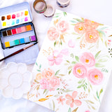 Loose Florals in Pastel Watercolour Practice Workshop - artjamming, Boulevart - Boulevart