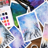 Mini Night Sky Watercolour Practice Workshop - artjamming, Boulevart - Boulevart