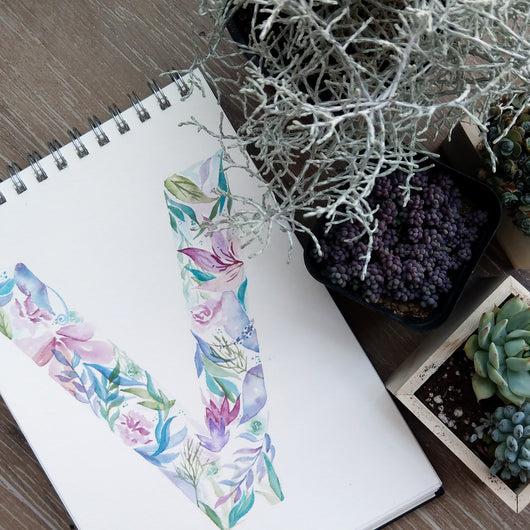 Floral Letter Art Watercolour Workshop (Coming Soon!) - artjamming, Boulevart - Boulevart