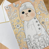 Colouring Postcards - Cat - artjamming, Boulevart - Boulevart