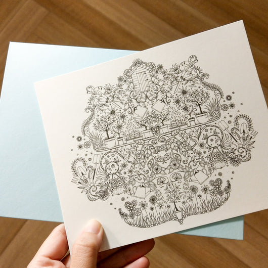 Colouring Postcards - Secret Garden - artjamming, Boulevart - Boulevart