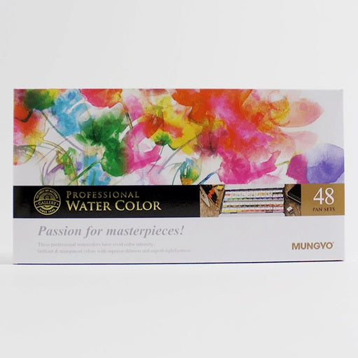 MUNGYO Professional Watercolor Paint 1/2 Pan Set x 48 - artjamming, Boulevart - Boulevart