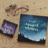 Night Sky + Motivational Phrase Painting - artjamming, Boulevart - Boulevart