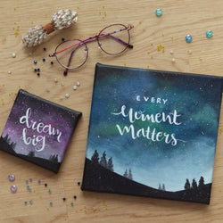 Night Sky + Quotes Painting (Customised) - artjamming, Boulevart - Boulevart