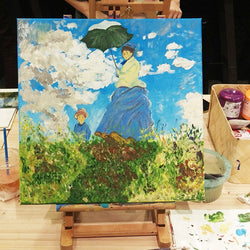 Monet - Woman with a Parasol Workshop - artjamming, Boulevart - Boulevart