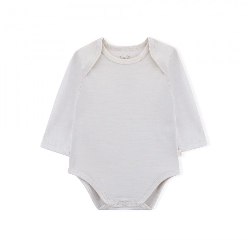 Essential Merino Baby Body - Knot x Antipodes Merino (Natural)