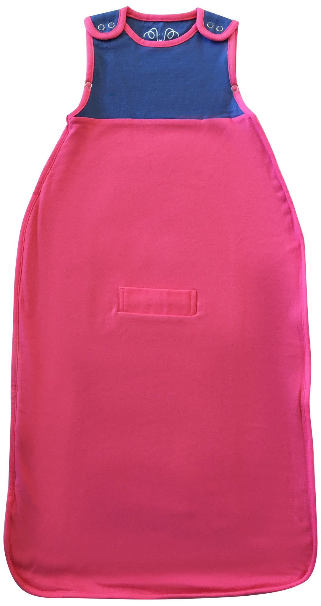 Merino wool and organic cotton sleeping bag, Pink (0-2 years)