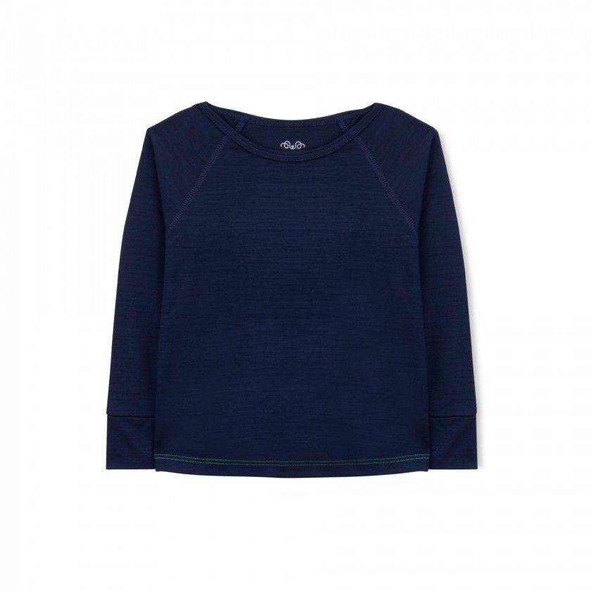 Essential Merino Long Sleeve Tee - Knot x Antipodes Merino (Navy Blue)