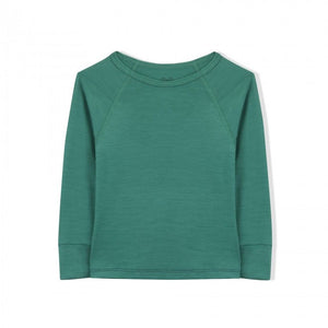 Essential Merino Long Sleeve Tee - Knot x Antipodes Merino (Green)