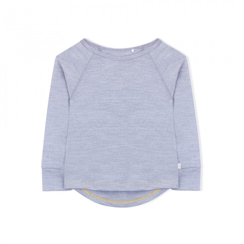 Essential Merino Long Sleeve Tee - Knot x Antipodes Merino (Grey)