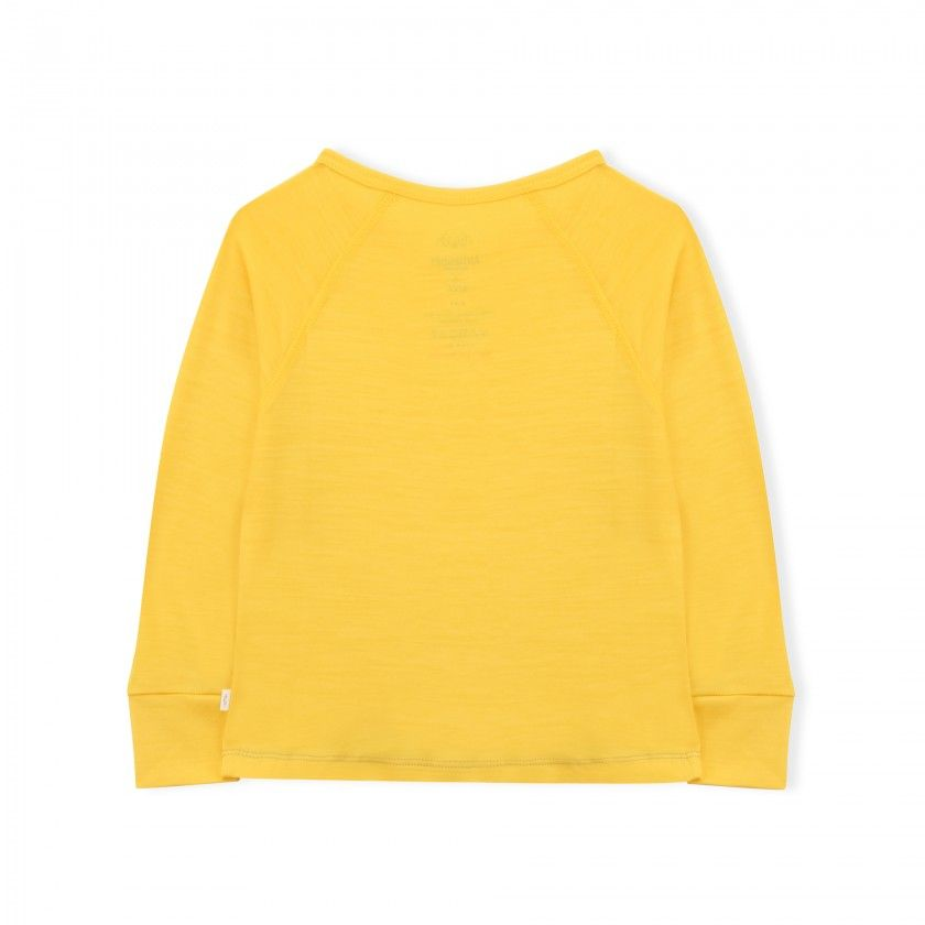 Essential Merino Long Sleeve Tee - Knot x Antipodes Merino (Yellow)