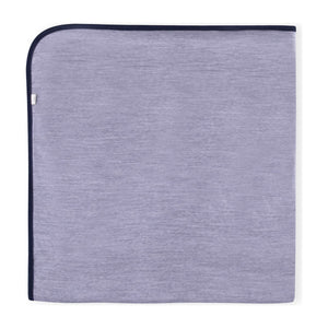 Essential Merino Baby Blanket - Knot x Antipodes Merino (Navy Blue and Grey)