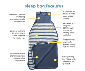 baby sleeping bag features