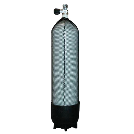 PROMO Duikfles 15 liter 232 bar (monkraan + voet en +tanknet) - D-Center