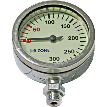 Manometer 63 mm 200bar chrome - D-Center