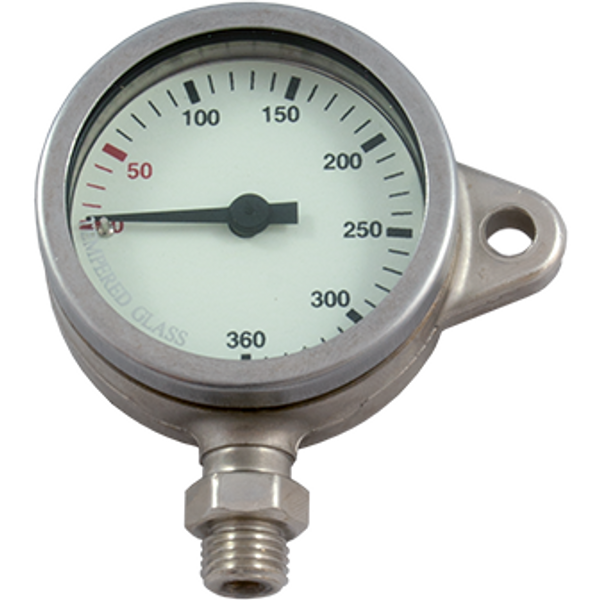 Manometer 52 mm 270 bar SNAP nikkel - D-Center