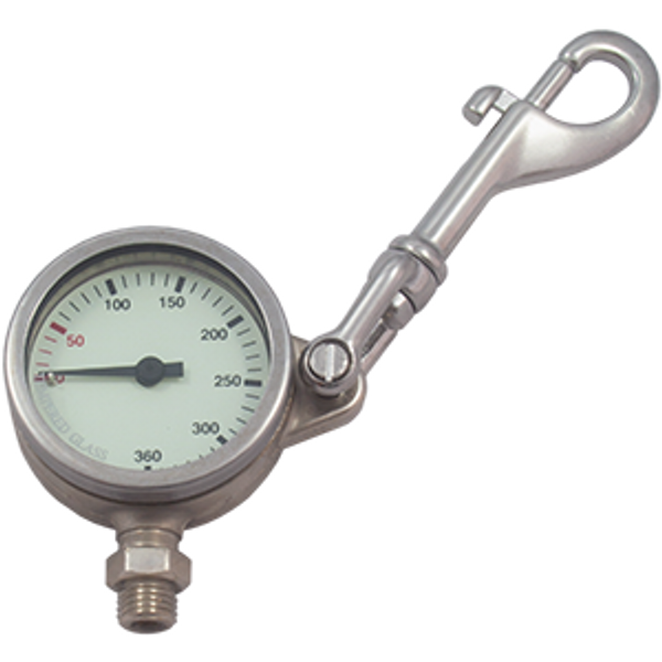 Manometer 52 mm 270 bar SNAP compleet