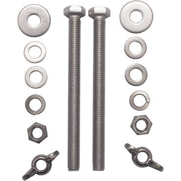 V4tec 140 mm kit RVS bouten voor D7, D8 of D8.5 - D-Center