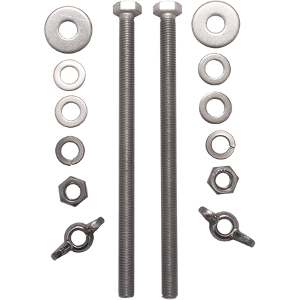 V4tec 204 mm kit RVS bouten voor D12 kort, D15, D18 of D20 - D-Center
