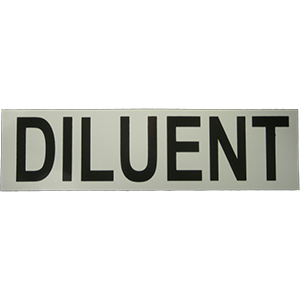 Sticker DILUENT - D-Center