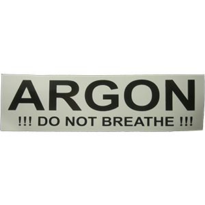 Sticker ARGON - D-Center