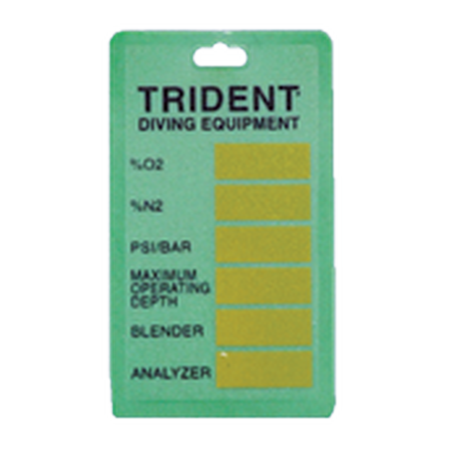 Nitrox label tag - D-Center