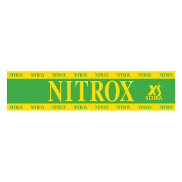 Nitrox sticker 65x15 cm geel/groen - D-Center