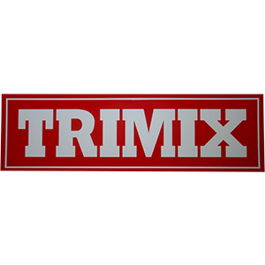Sticker TRIMIX rood/wit 25