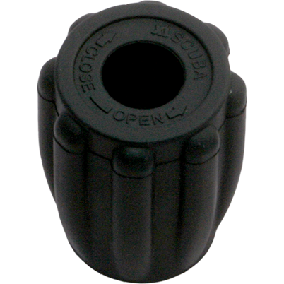 Thermo rubber knop zwart- Easy Grip - D-Center