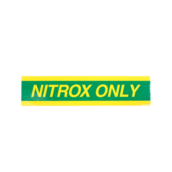 Nitrox Only sticker | klein - D-Center