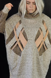 Cross knit Nude