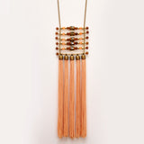TIKA Fringe Necklace Peach